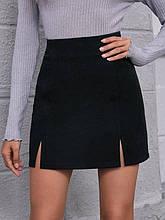 Юбка женская коротка  с разрезами спередиРазмер: 42-44, 46-48