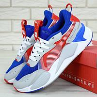 Мужские кроссовки в стиле Puma RS-X, синий, красный, белый, серый, Вьетнам