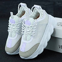 Женские кроссовки в стиле Versace Chain Reaction, белый, Италия
