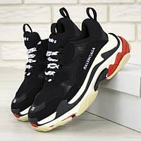 Мужские кроссовки в стиле Balenciaga Triple S, черный, белый, красный, Италия