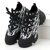 Женские кроссовки в стиле Dior D-Connect, черно-белый, Италия