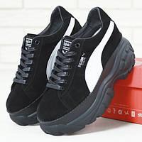 Женские кроссовки в стиле Puma x Buffalo London Suede Platform, черный, Вьетнам