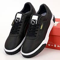 Женские кроссовки в стиле Puma Cali, кожа, черный, Вьетнам