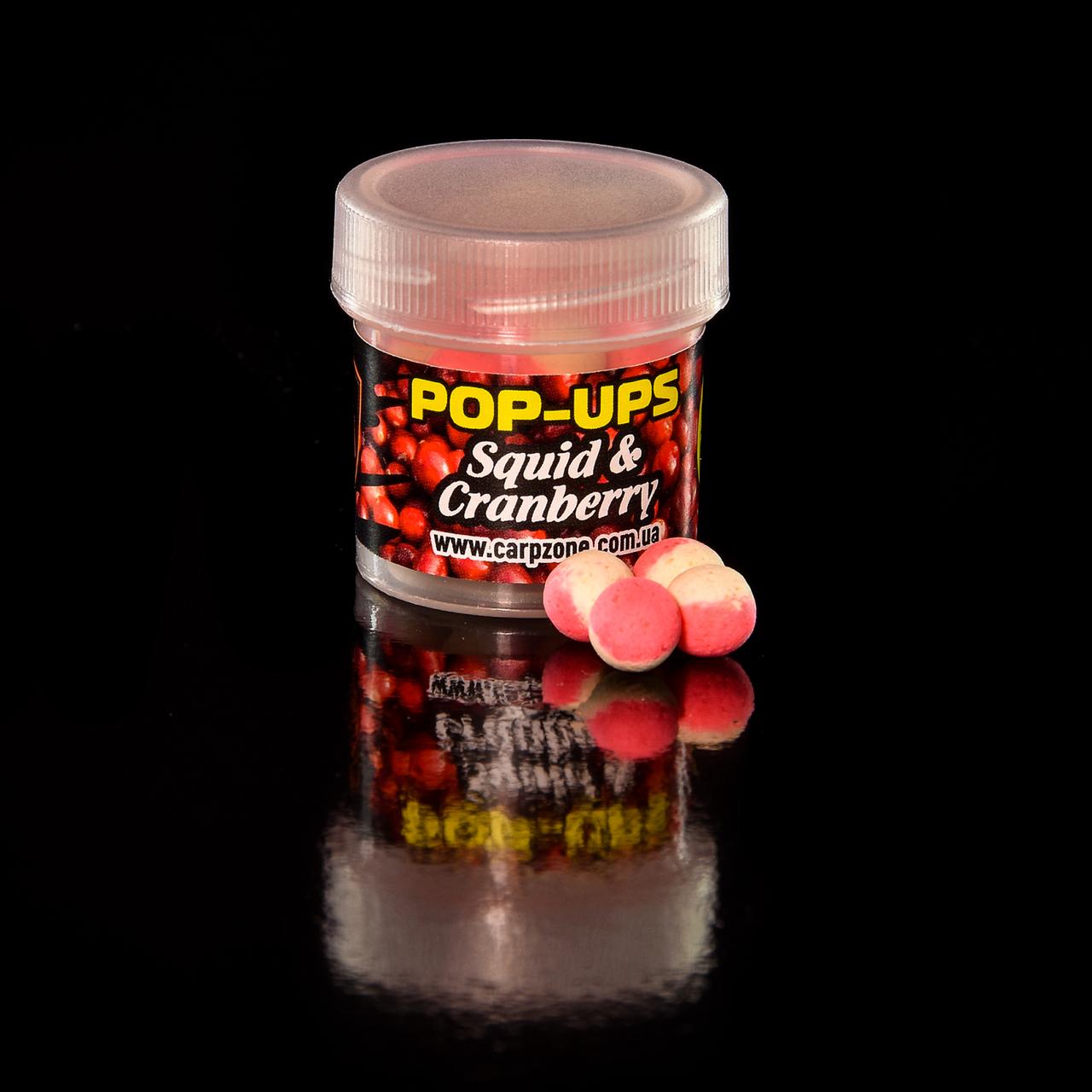 Поп Ап CarpZone Pop-Ups Method & Feeder Squid & Cranberry (Кальмар і Журавлина) 8mm/30pc