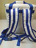 Терморюкзак для доставки еды из баннерной ткани ПВХ с накладным карманом. 35*20, высота 40, фото 5