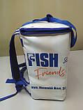 Терморюкзак для доставки еды из баннерной ткани ПВХ с накладным карманом. 35*20, высота 40, фото 2