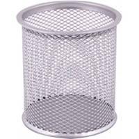 Подставка для ручек металлическая Optima O36301-10 серебро