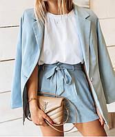 Пиджак и шорты костюм женский Молодежный классический деловой.Новое поступление весна лето