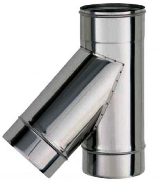 Трійник 45* термо ø 160/220 0.5 мм сталь нержавійка/нержавійка