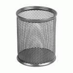 Подставка для ручек круглая 80 * 80 * 100 мм металлическая 2110-03-A серебро