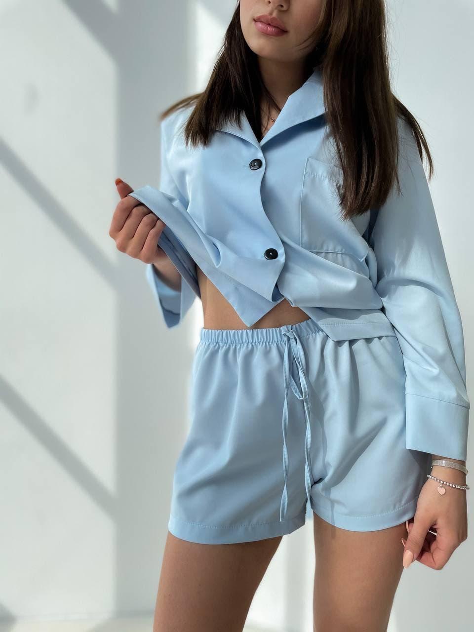 Рубашка с шортами шелк армани