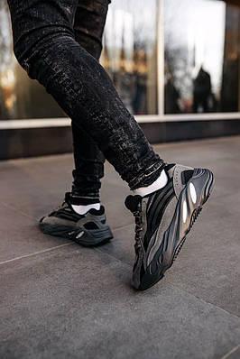 Кроссовки мужские Adidas Yeezy Boost 700 V2 Vanta FU6684 Адидас Изи Буст 700 в 2 Черный Размер 46