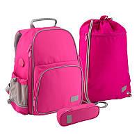 Набір рюкзак + пенал + сумка для взуття Kite 720-1 Smart рож