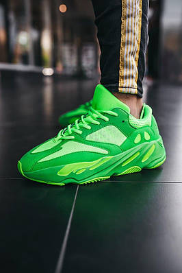 Кроссовки мужские Adidas Yeezy Boost 700 V2 Neon Green Адидас Изи Буст 700 в 2 Салатовый Размер 46