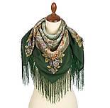 Кумушка 1453-9а, павлопосадский платок шерстяной  с шелковой бахромой, фото 2