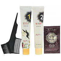 Doori Cosmetics, Daeng Gi Meo Ri, краска для волос с лекарственными травами, оттенок черный, 1 набор,,