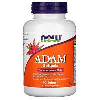 Мужской витаминный комлекс АДАМ, ADAM Superior Men's Multi Now Foods, 90 softgel