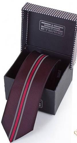 Шелковый мужской галстук ETERNO (ЭТЕРНО) EG640 бордовый