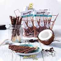 Соломка Şölen BISCOLATA STIX в молочном шоколаде с кокосом 12 шт