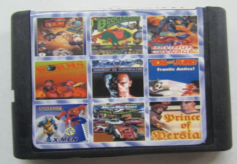 Картридж Sega 9в1 Boogerman adventure Micromachines 2 turbo Earthworm jim 2