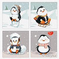 Набор для росписи по номерам ПОЛИПТИХ Веселая зима София Никулина Идейка KNP020
