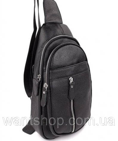 Мужской кожаный рюкзак на одно плече TIDING BAG A25F-1362-1A