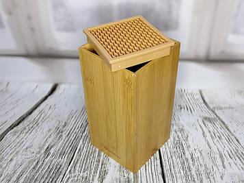Подставка Quttin для ножей, кухонных гаджетов с бамбука 10,5 x 10,5 x 21 см