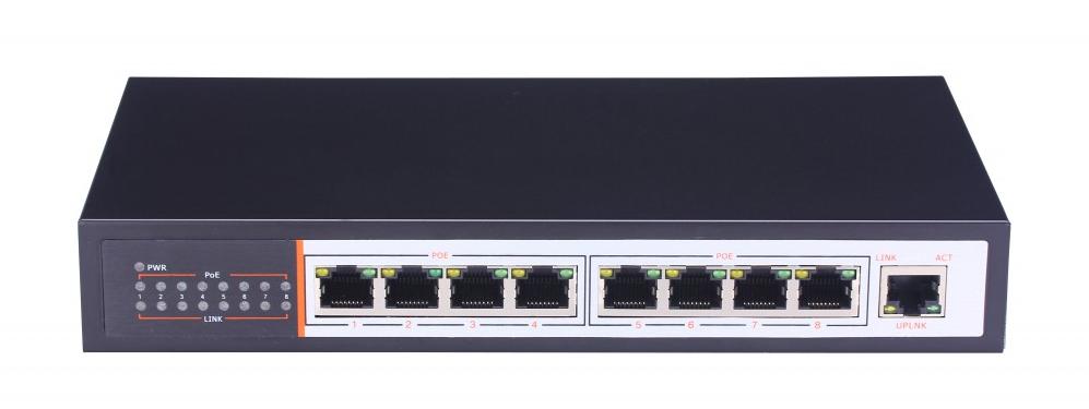 8-портовый коммутатор c POE ZTP-ZP1082