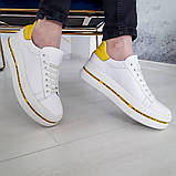 Белые кеды с желтыми вставками, фото 3