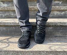 Кросівки чоловічі літні чорна сіточка, фото 3