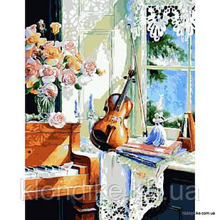 """Картина по номерам """"Скрипка"""" 40×50 см Акриловые Краски"""