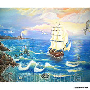 """Картина по номерам """"Корабль"""" 30×40 см Акриловые Краски"""