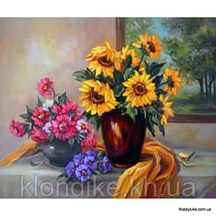 """Картина по номерам """"Две вазы с цветами"""" 40×50 см Акриловые Краски"""