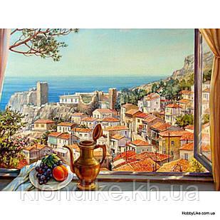 "Картина по номерам ""Вид на море"" 40×50 см Акриловые Краски, Картонная упаковка"