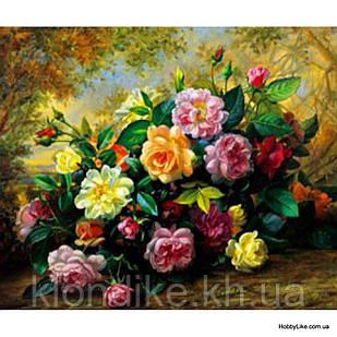 """Картина по номерам """"Розы и пионы"""" 40×50 см Акриловые Краски"""