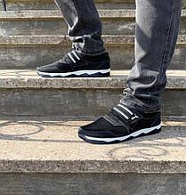 Кроссовки кеды мужские на липучке черные