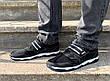 Кросівки кеди чоловічі на липучці чорні 43 розмір, фото 4