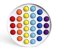 """Комплект Сенсорная игрушка антистресс POP IT Игрушка """"нажми на пузырь"""" BOUBLE PUSH сова и круг, фото 3"""
