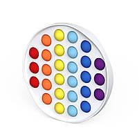 """Комплект Сенсорная игрушка антистресс POP IT Игрушка """"нажми на пузырь"""" BOUBLE PUSH сова и круг, фото 4"""