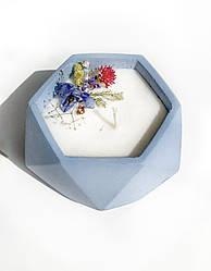 Свічка в бетоні із соєвого воску Decoline (гол.) (v-125мл) S1001-3