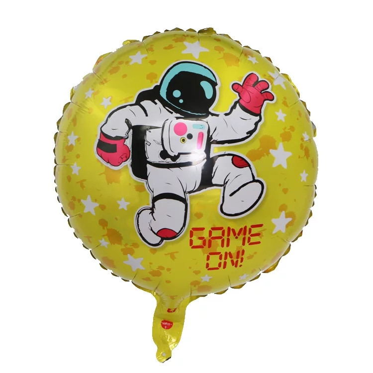 Фольгированный воздушный шар космонавт в космосе 45 см