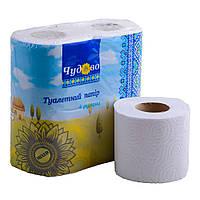 Туалетная бумага белая 2-х слойная бытовой рулон 16 м Mirus Чудово
