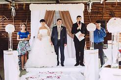 """Свадебное оформление зала в шоколадном цвете ресторан """"Козачка"""" г. Полтава"""
