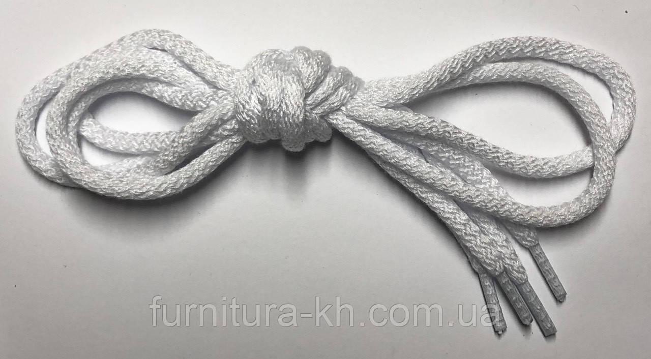 Шнурки круглые 100 см (цвет белый) в уп 72 пары.