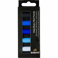 Пастель суха м'яка Royal Talens Rembrandt набір 5шт кортонная коробка синій асорті (8712079429805)