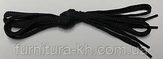 Шнурки плоские 120 см (цвет черный) в уп 72 пары.