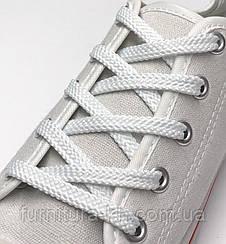 Шнурки плоские 100 см (цвет белый ) в уп 72 пары.