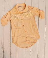 """Сорочка дитяча подовжена з мереживом на дівчинку 5-8 років """"MARI"""" купити недорого від прямого постачальника"""