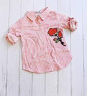 """Сорочка підліткова в смужку з вишивкою на дівчинку 9-12р(2цв)""""MARI"""" купити недорого від прямого постачальника"""
