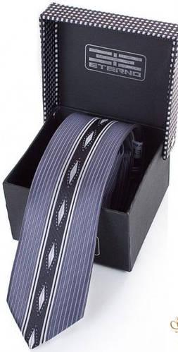 Эффектный мужской шелковый галстук ETERNO (ЭТЕРНО) EG642 серый